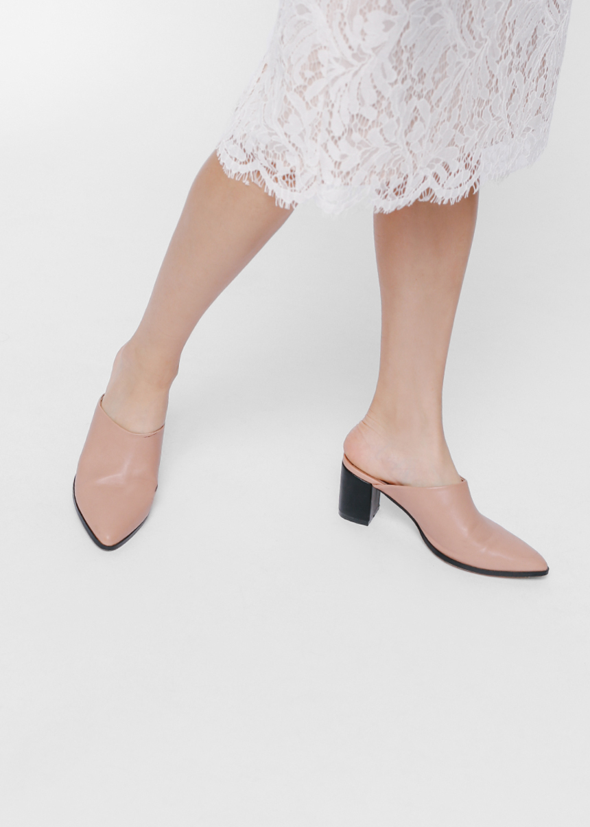 Moaja Pointed Heeled Mules