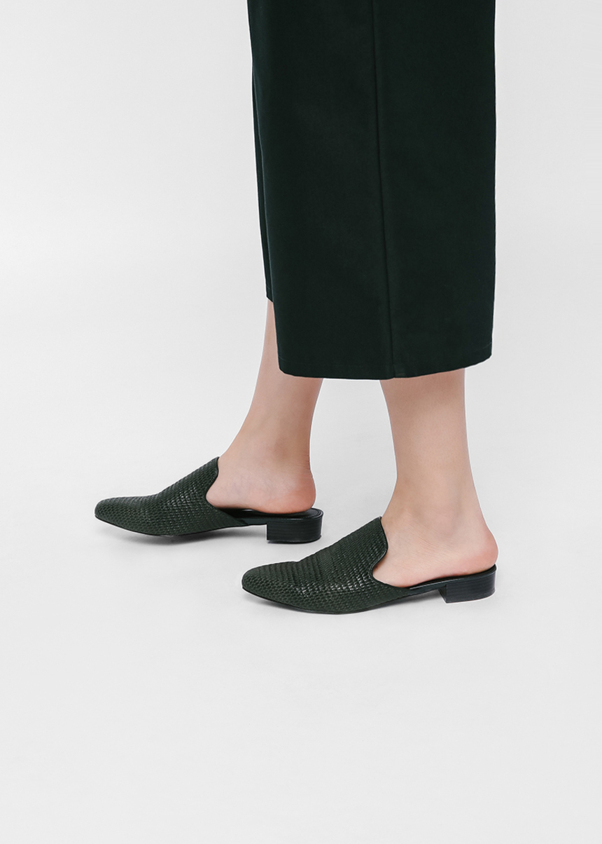 Srelna Straw Slip-on Mules