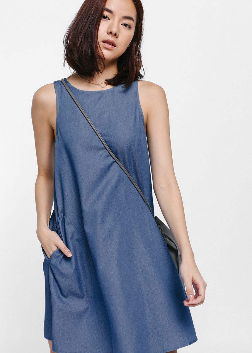 Gyasel Denim Swing Dress