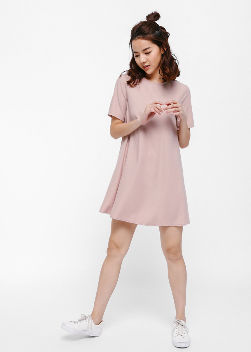 Raelia Round Neck Shift Dress