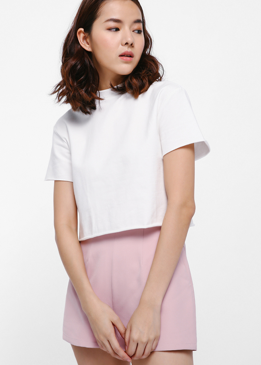 Nolnin High Neck Cropped T-shirt