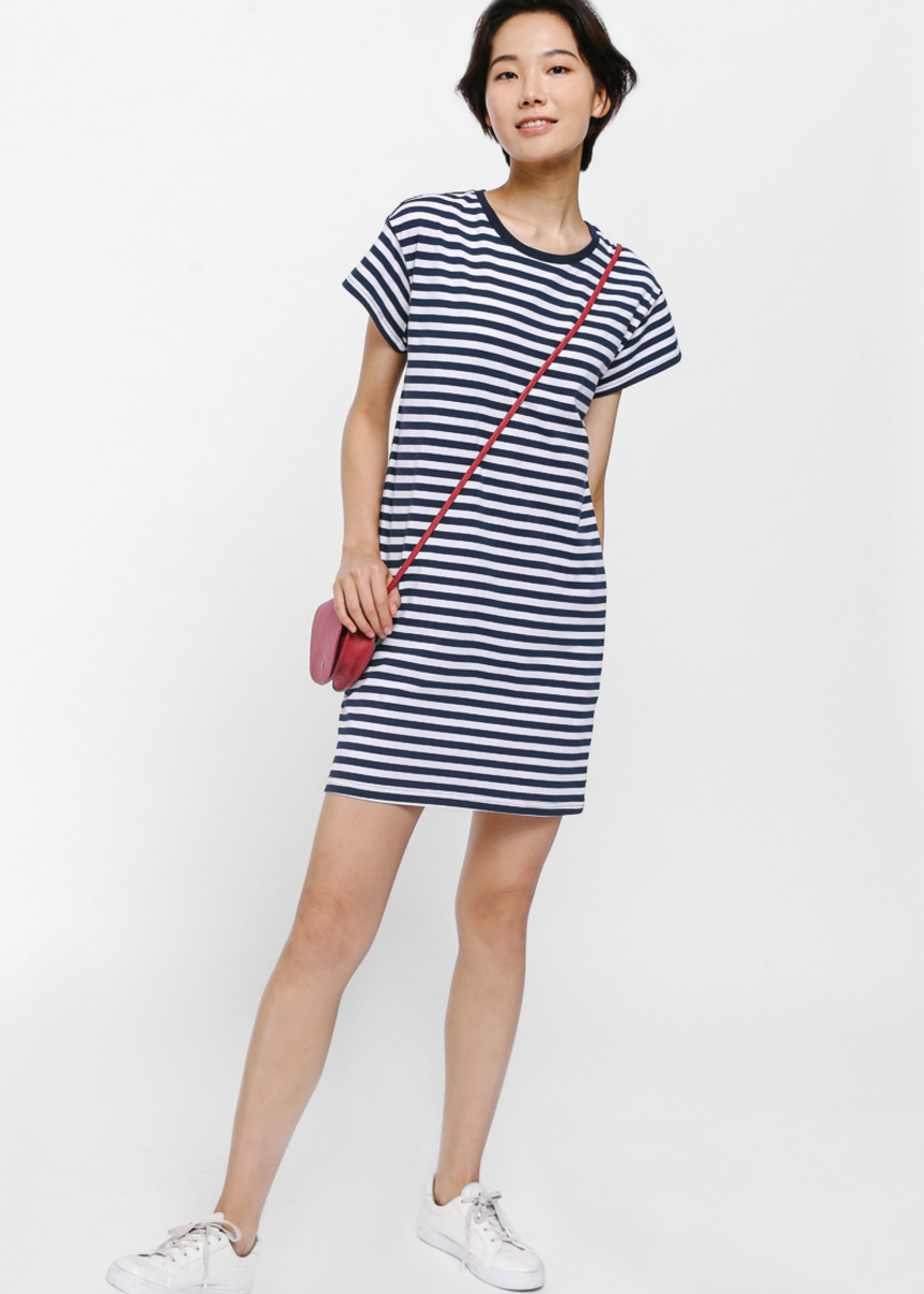 Raelee Striped T-shirt Dress