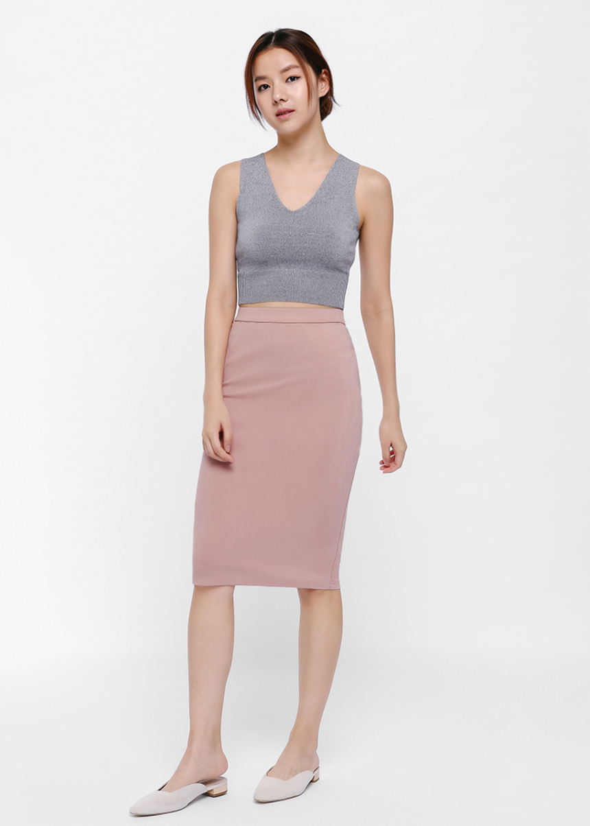 Trish Elastic Waist Pencil Skirt