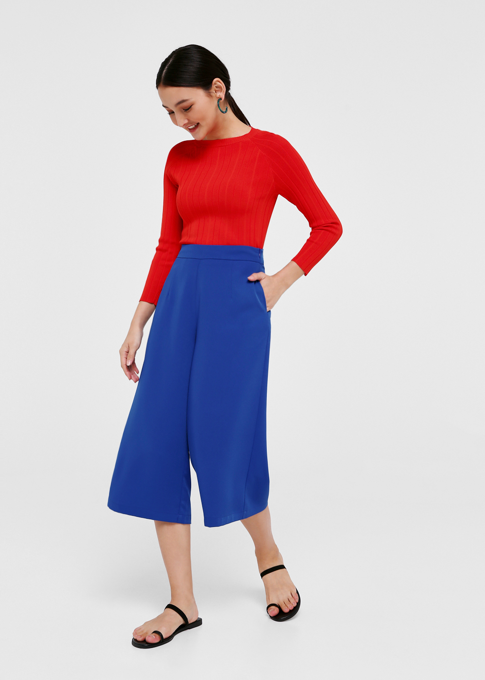 Nevara Wide Leg Culottes