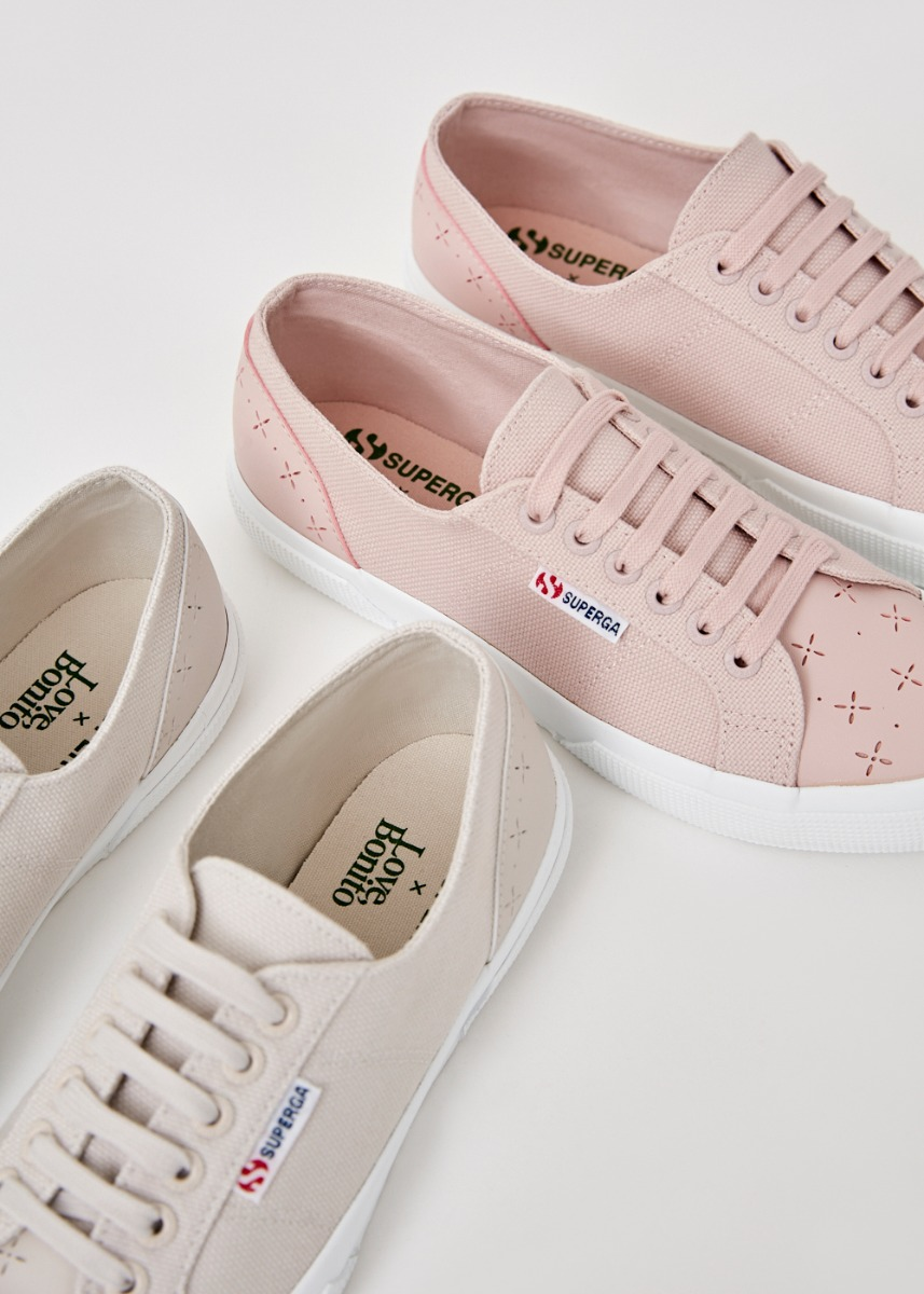 Superga x Love, Bonito Laser Cut Sneakers