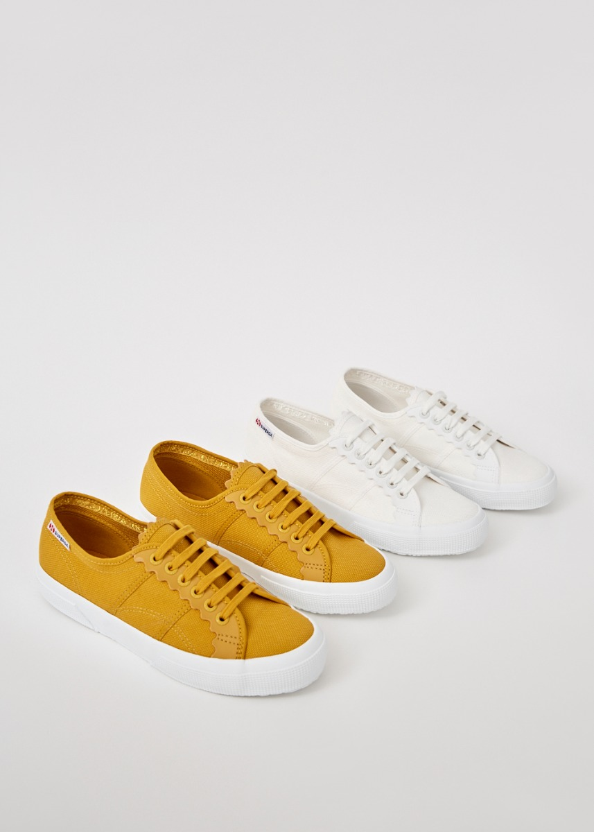 Superga x Love, Bonito Scallop Trim Sneakers
