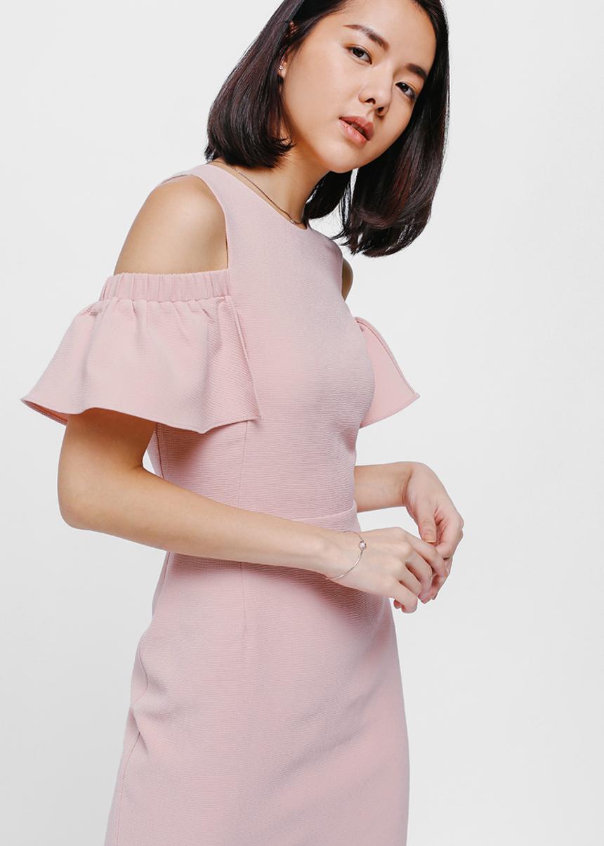 Oayth Off Shoulder Midi Dress