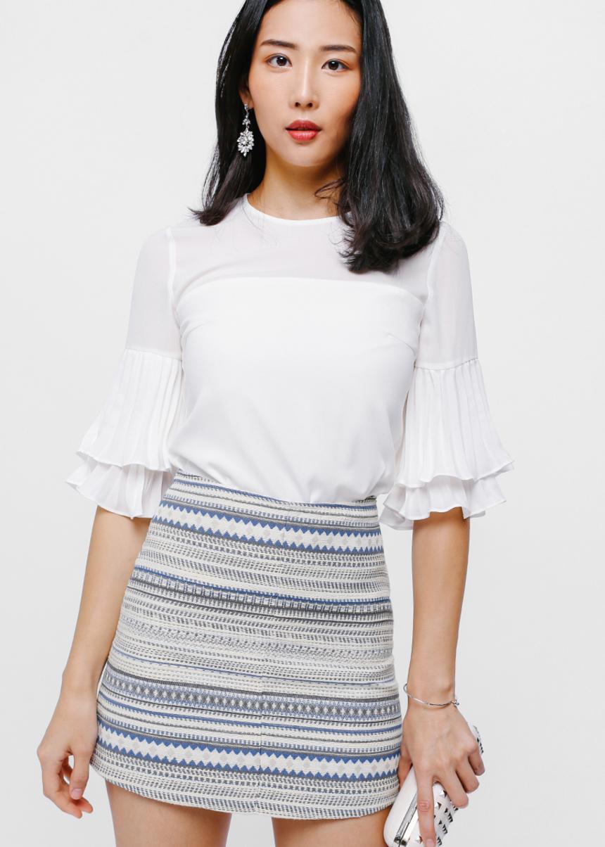 Serilde Tweed Mini Skirt