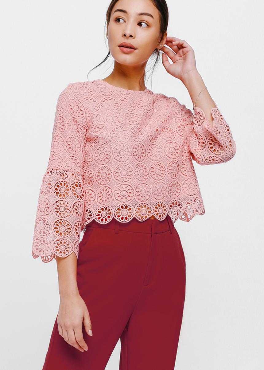 Nara Flare Sleeve Lace Top