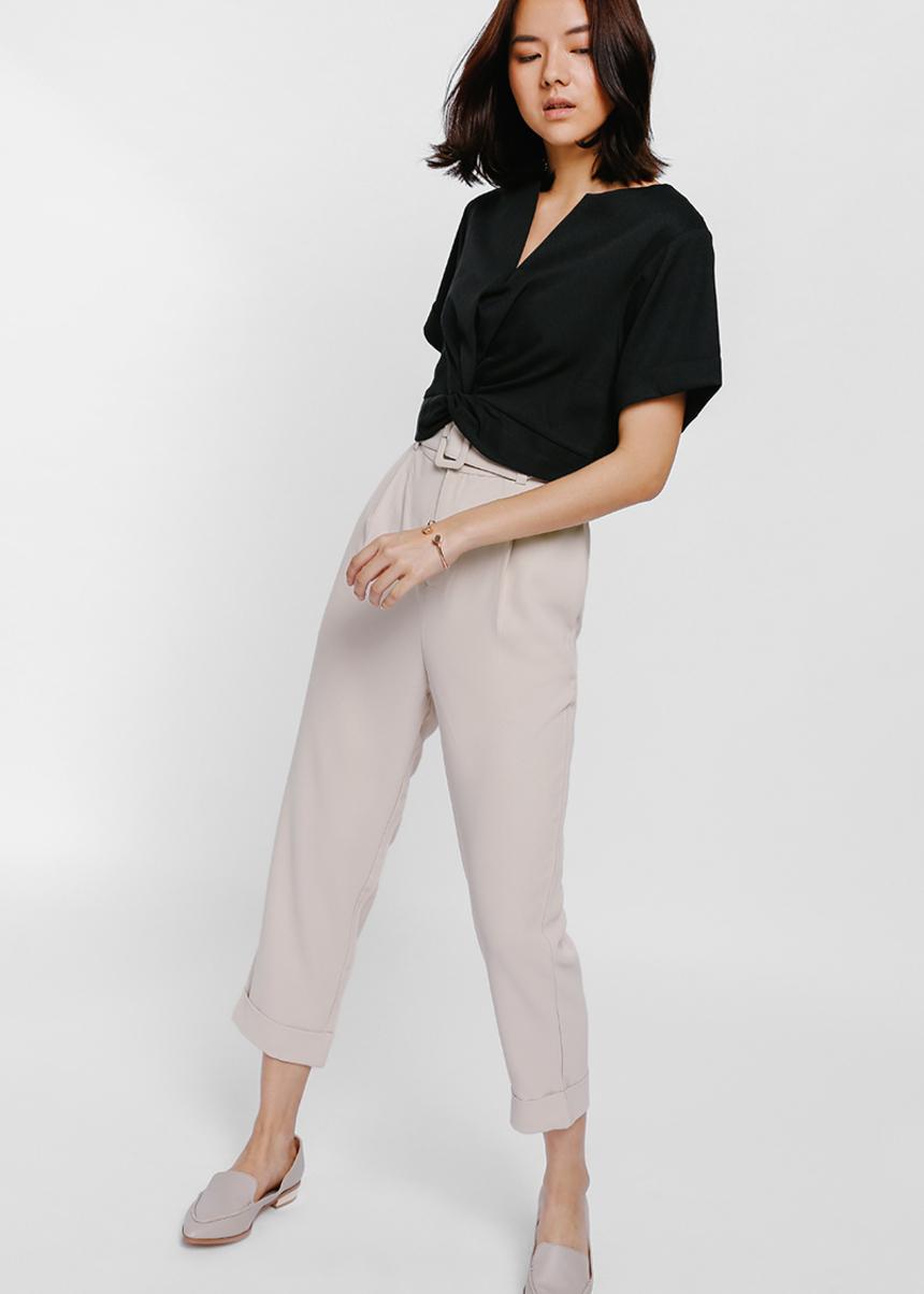 Pamya Belted Cropped Pants