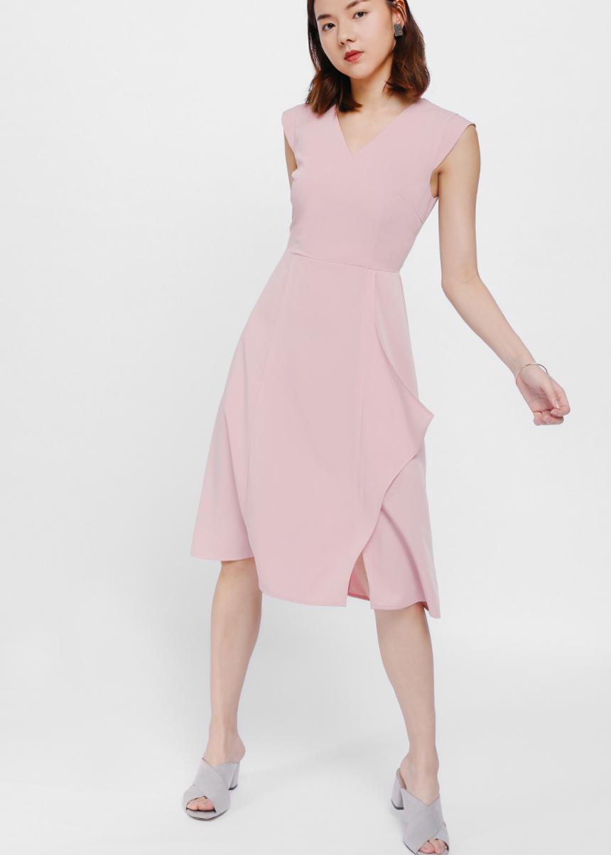 Melja Cascade Midi Dress