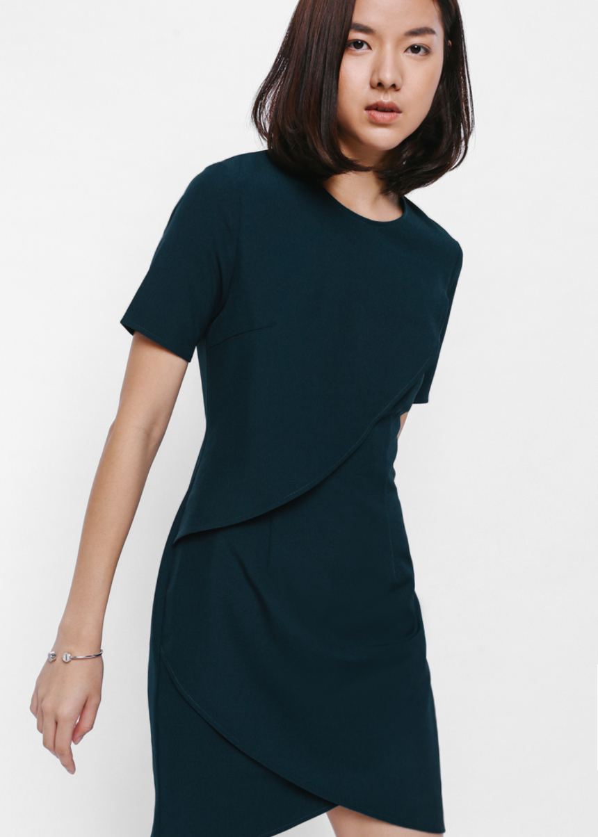 Amantha Layered Foldover Dress
