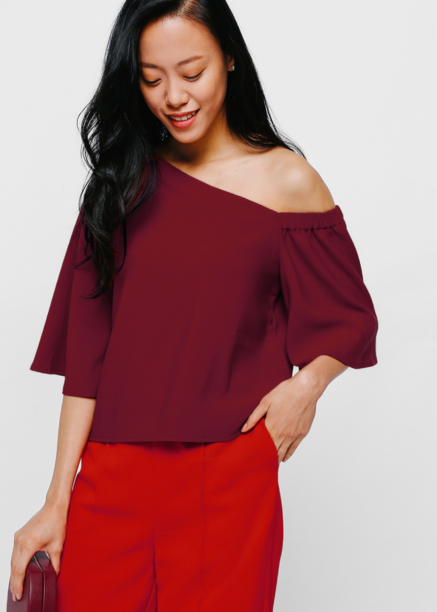 Omean Flutter Sleeve Off Shoulder Top