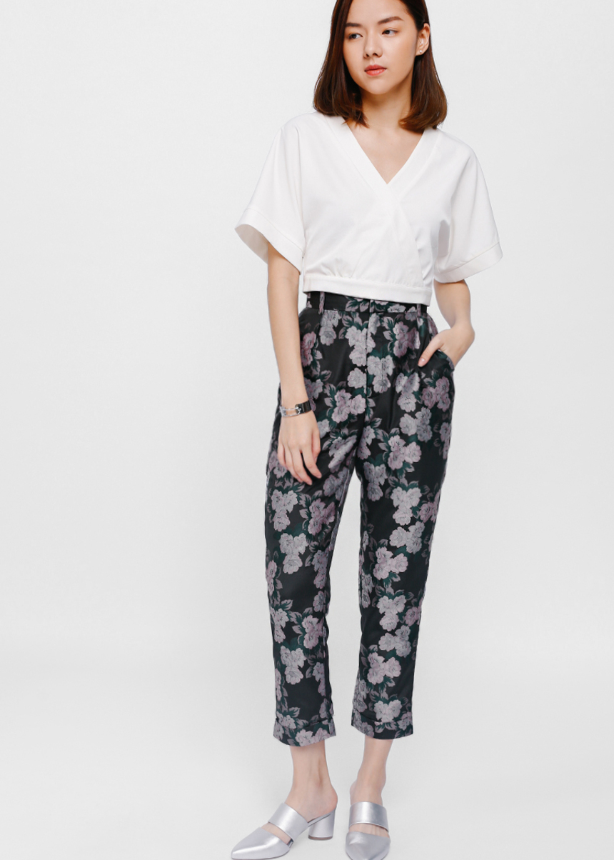 Brianda Brocade Crop Pants