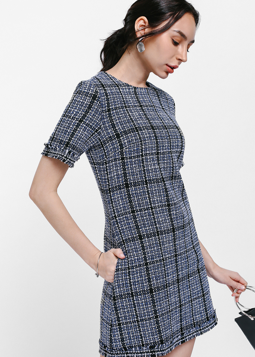 Delphy Tweed Dress