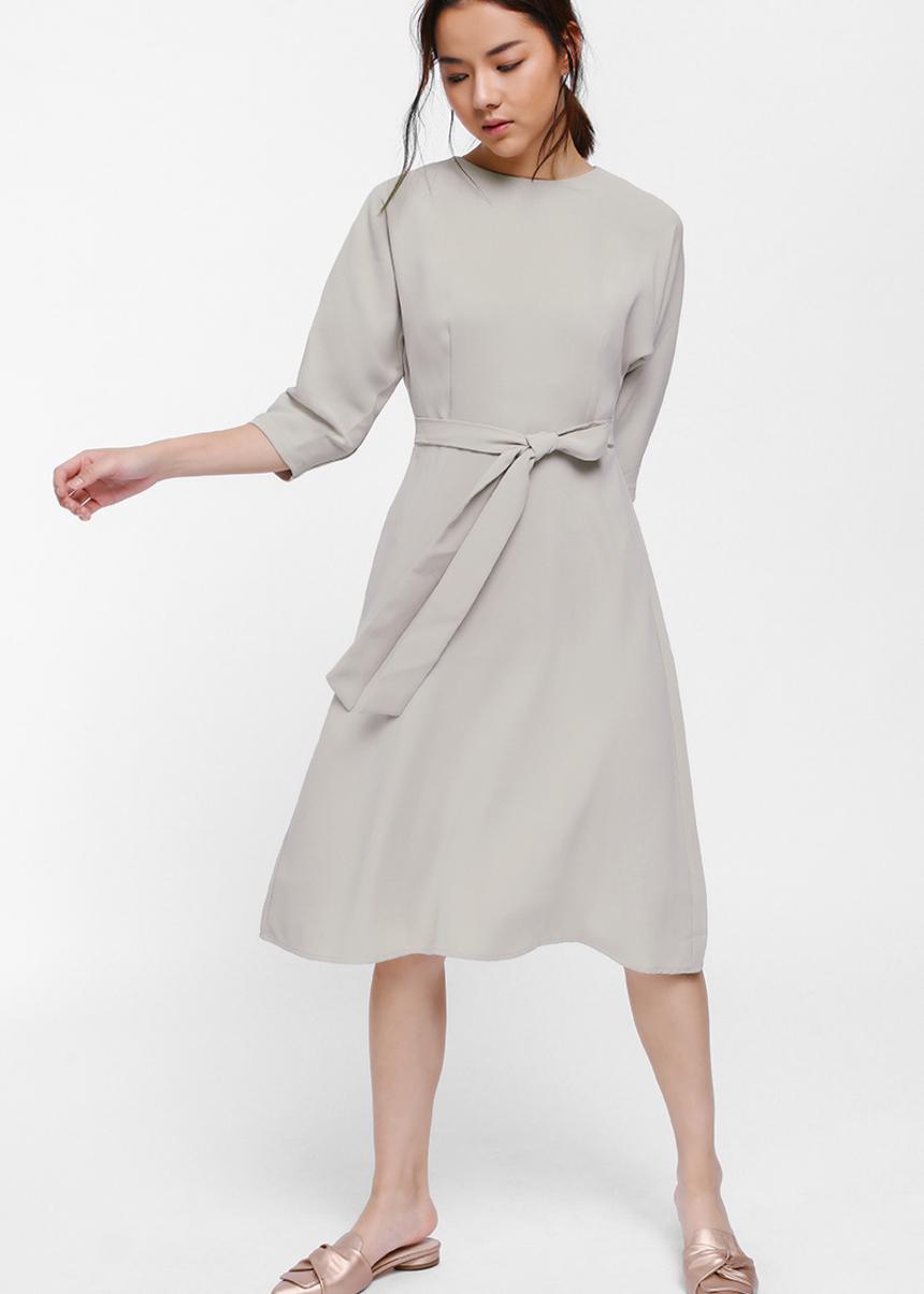 Rytelle Open Back Sash Midi Dress