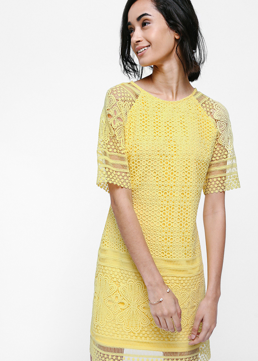Fenryn Crochet Lace Overlay Dress