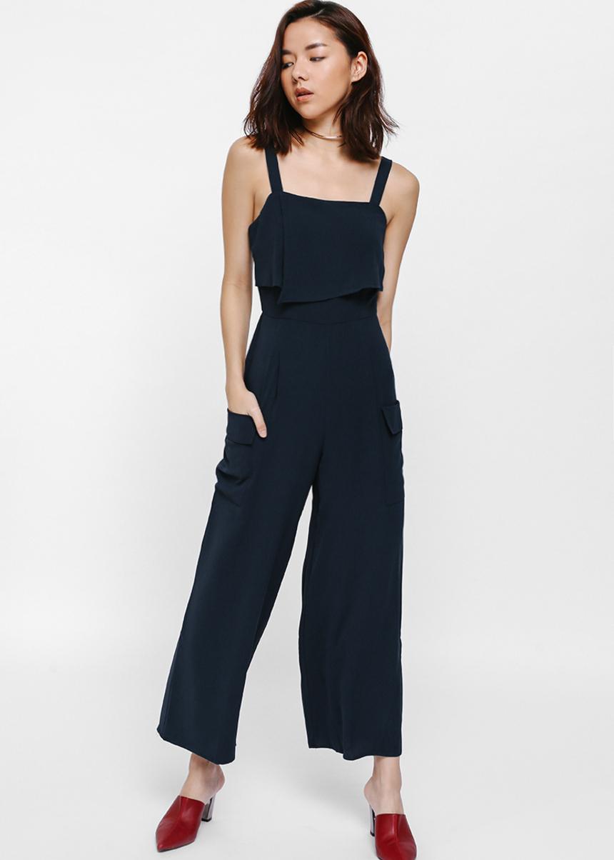 Noella Layered Pocket Jumpsuit