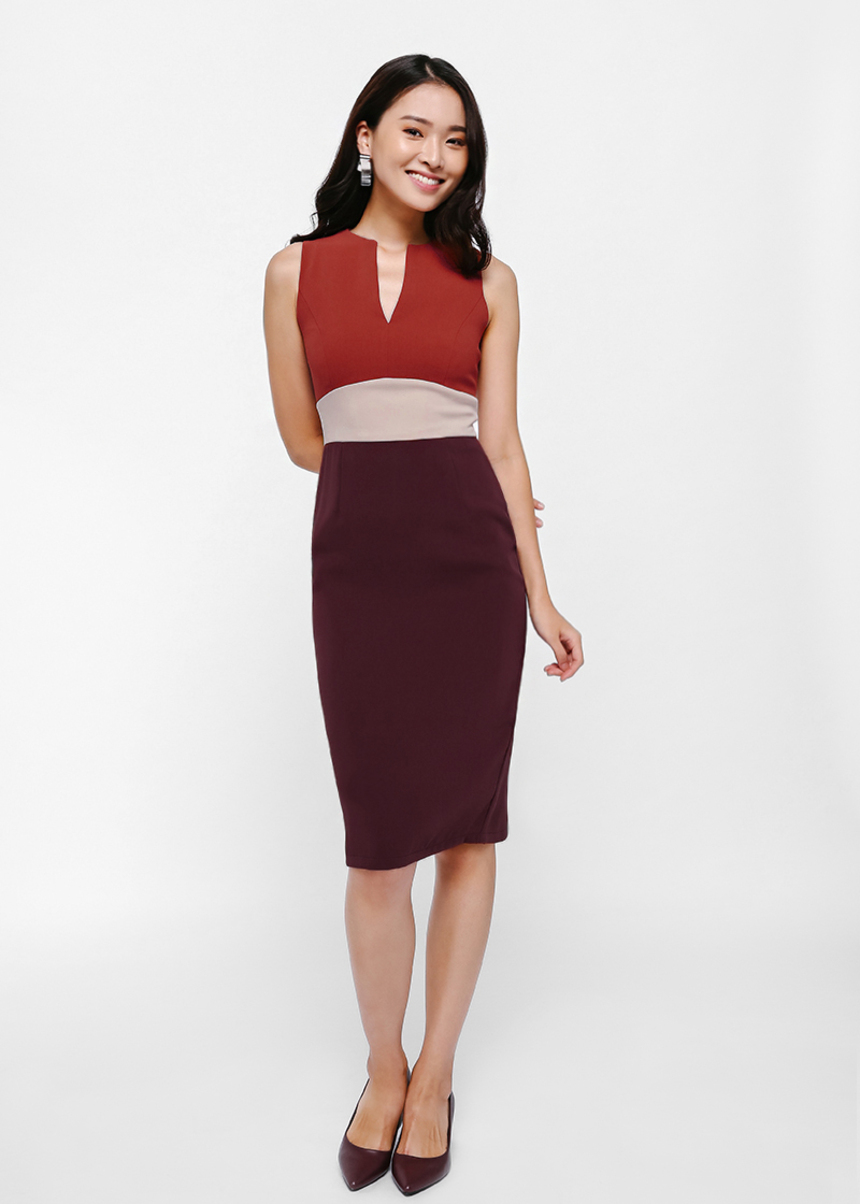 Folovia Colourblock Dress