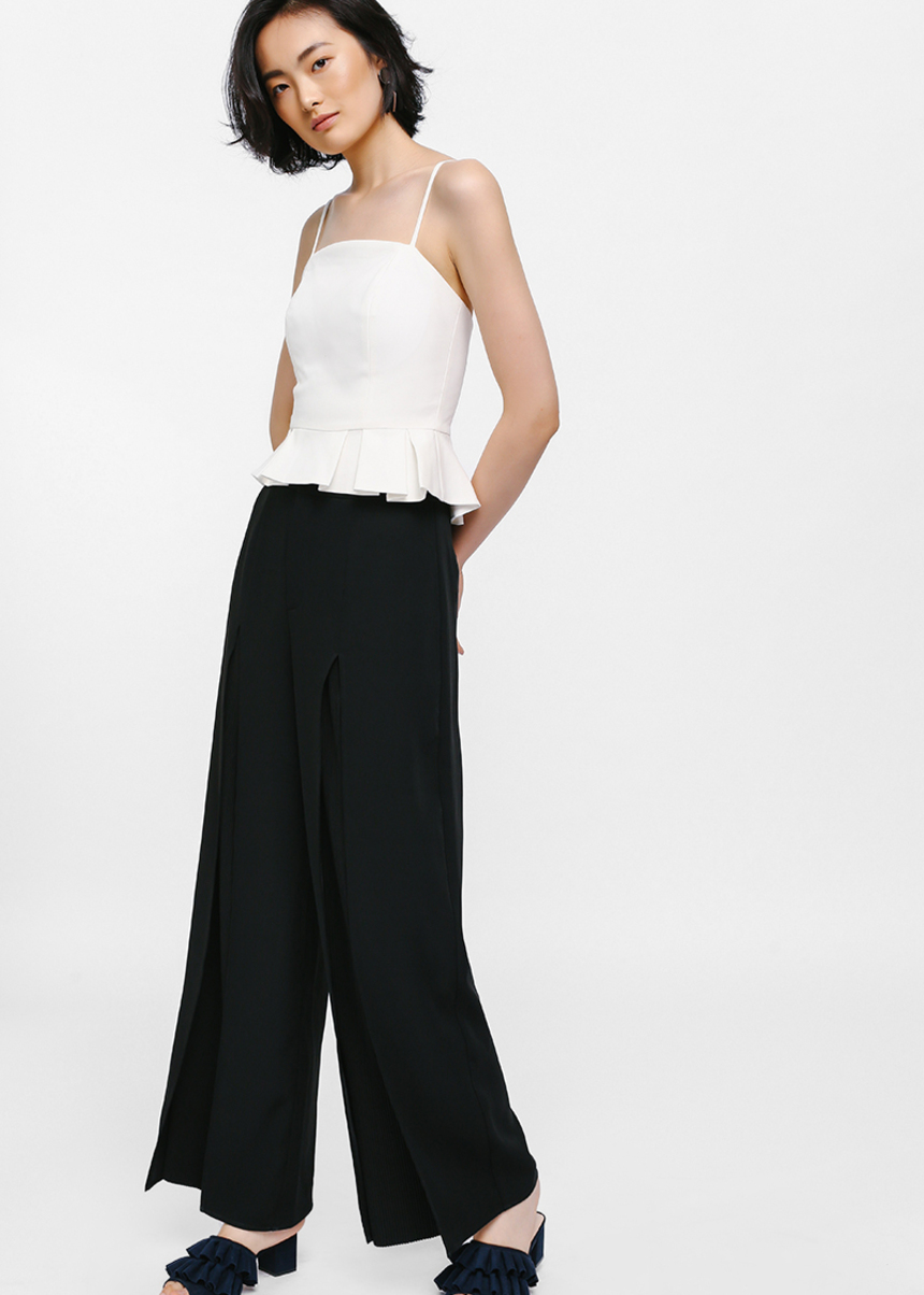 Aolda Slit Front Pleated Pants