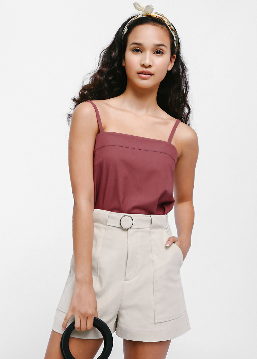 Selyese Belted Pocket Shorts