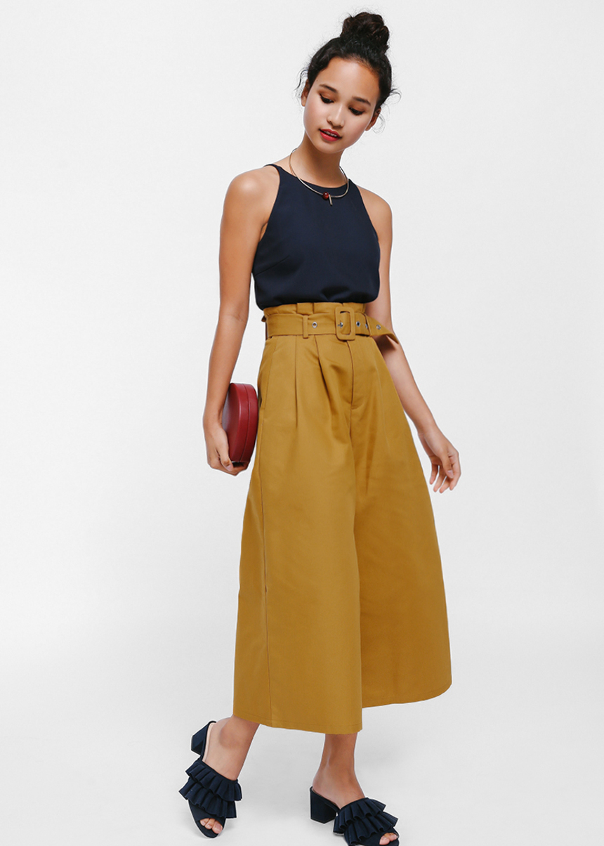 Colea Belted Paperbag Culottes