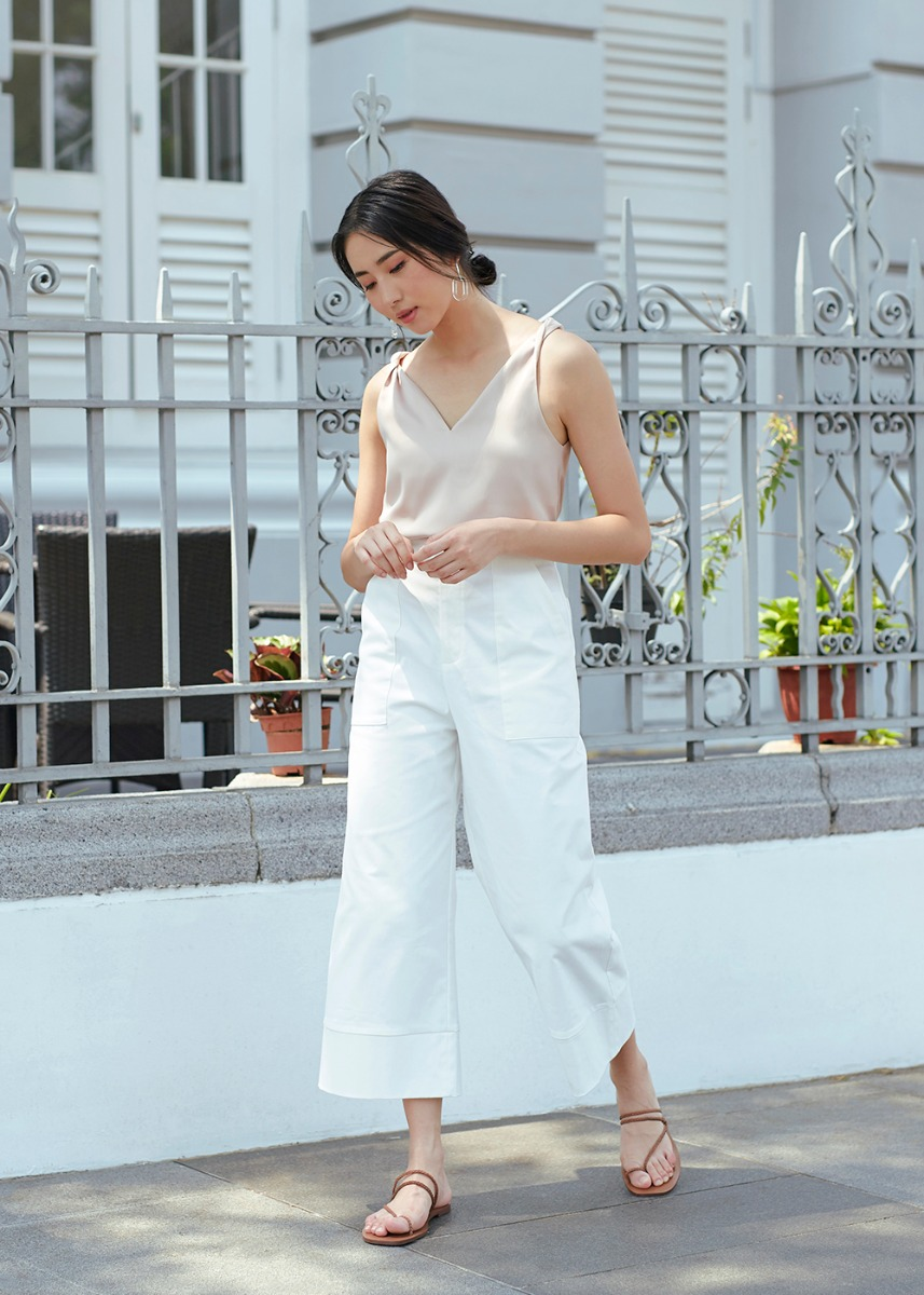 Peanne Wide Leg Cropped Pants