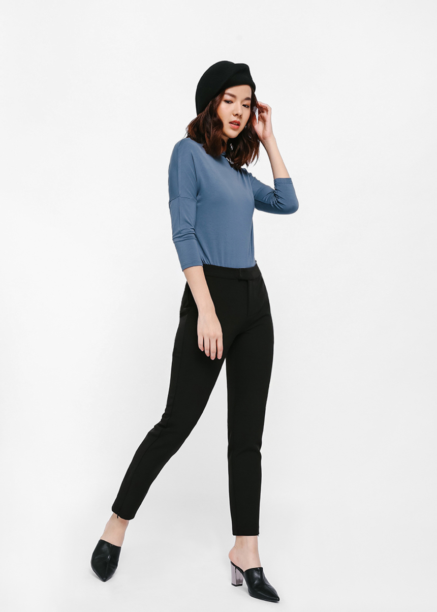 Aryn Ankle Zip Skinny Pants