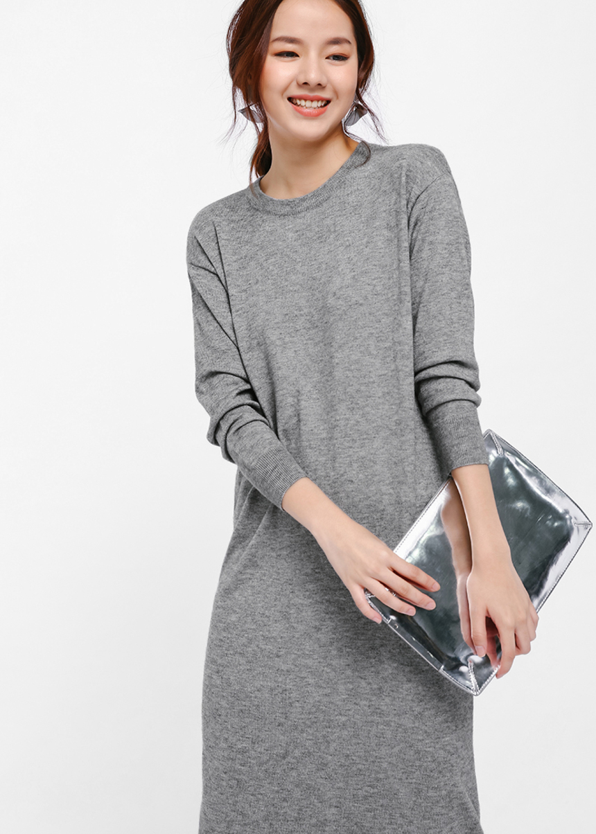 Helne Knit Sweater Dress