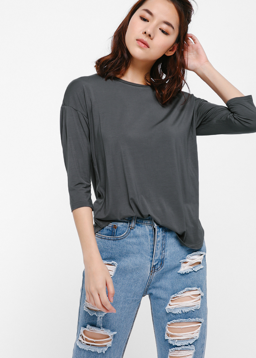 Yullip Curved Hem Top