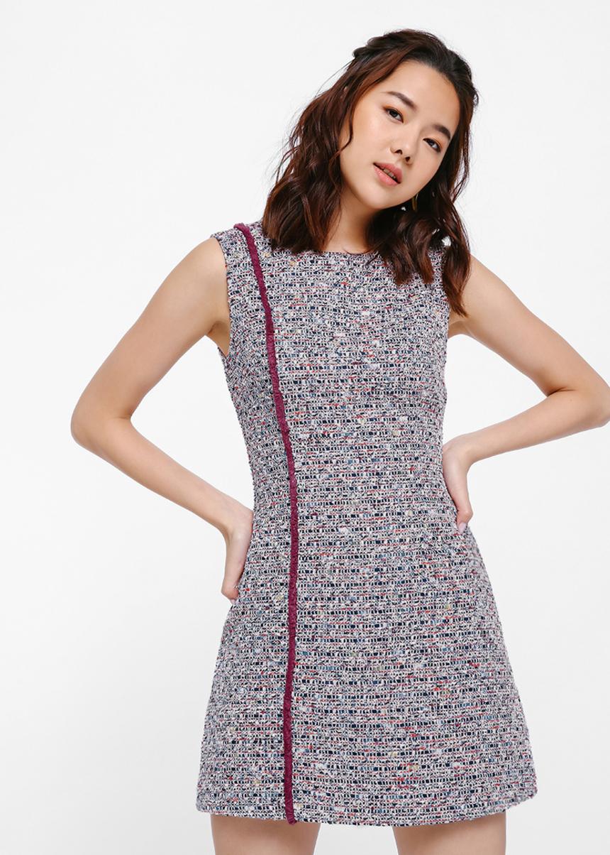 Magda Tweed Shift Dress