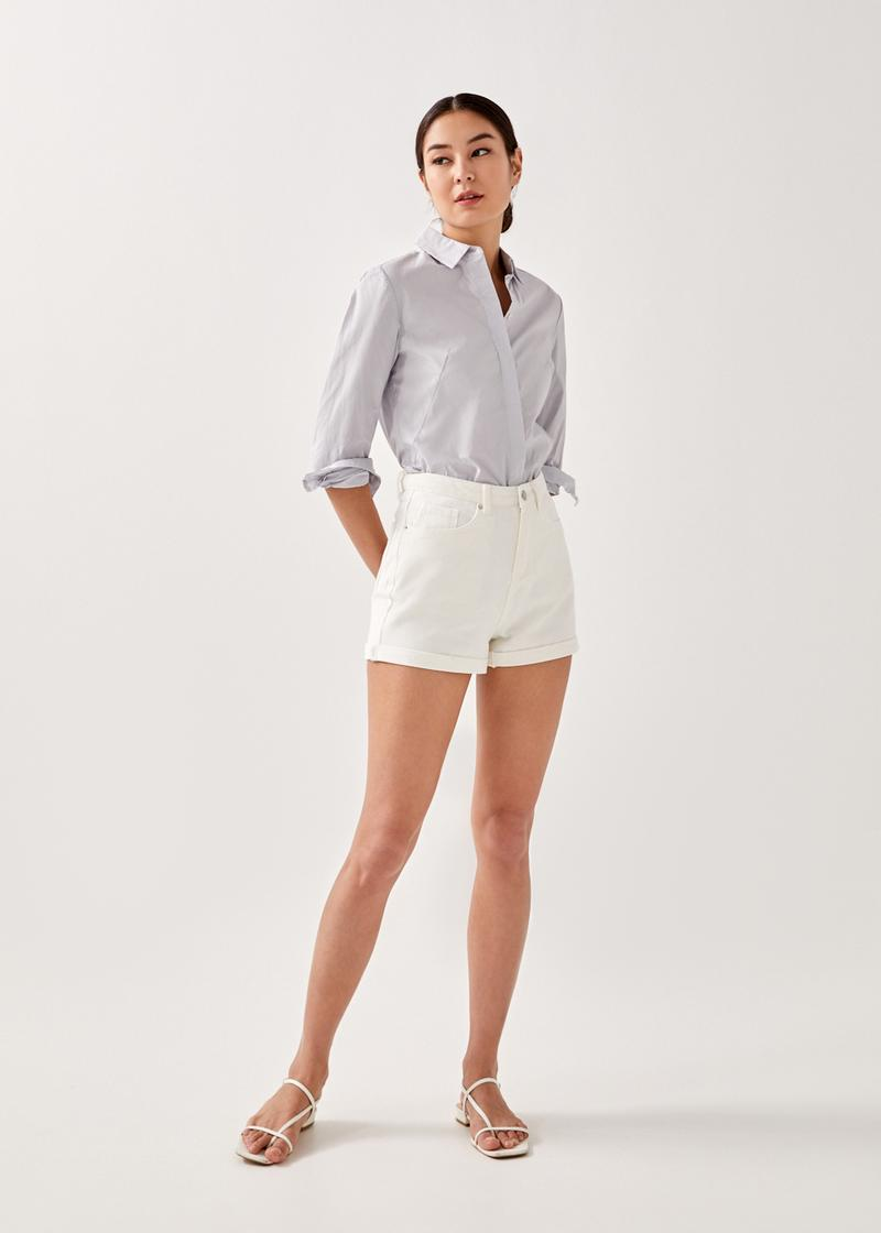 Nelly Cuffed Denim Shorts