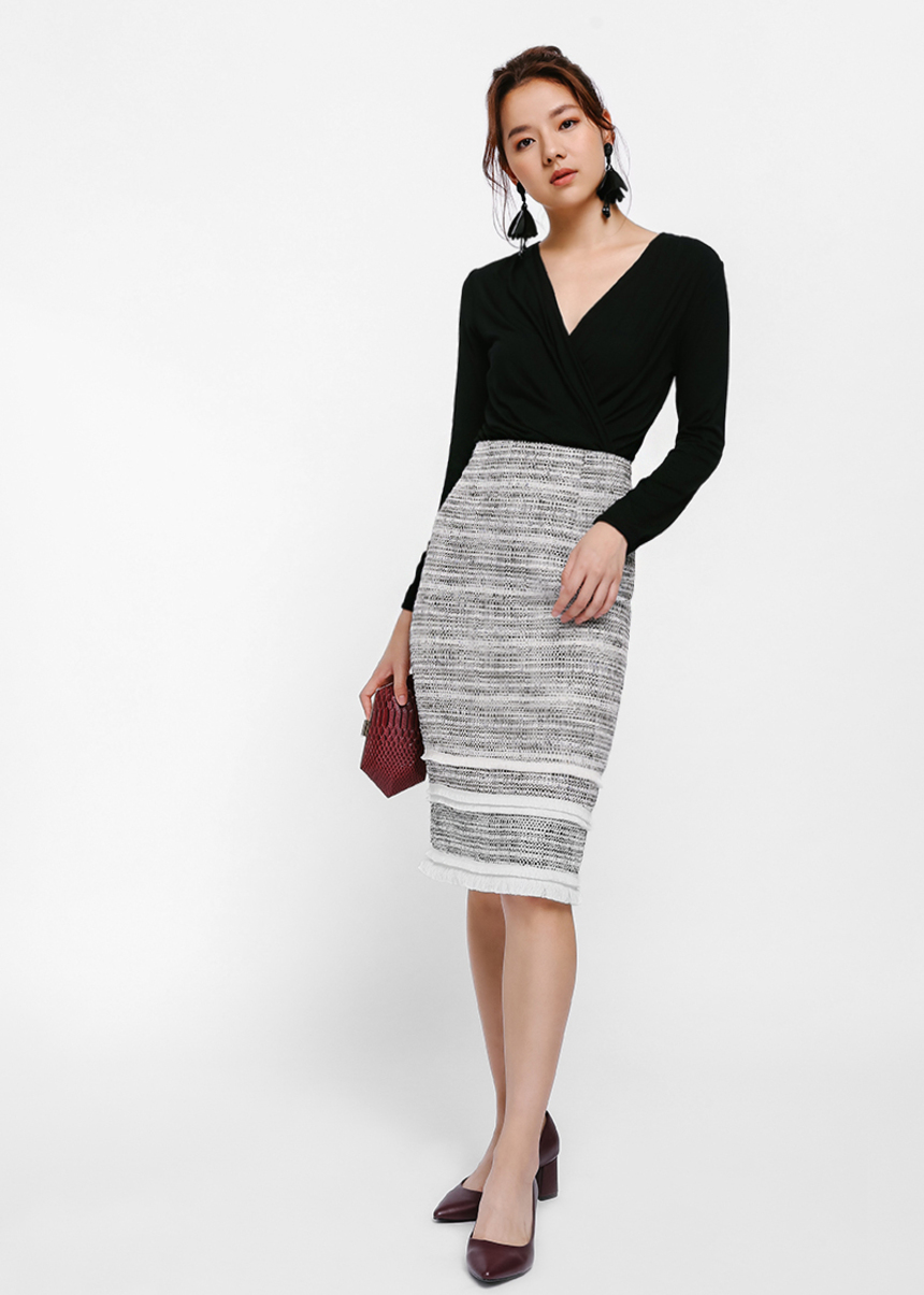 Devon Tweed Pencil Skirt
