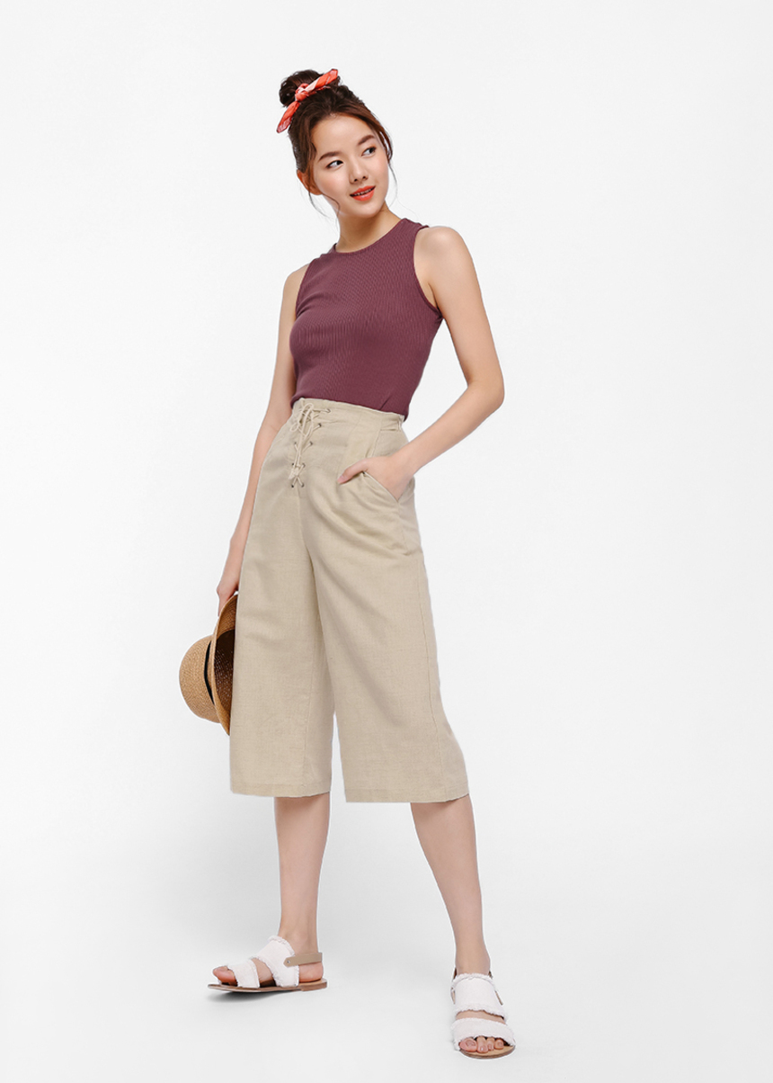 Eulonsia Lace-up Culottes
