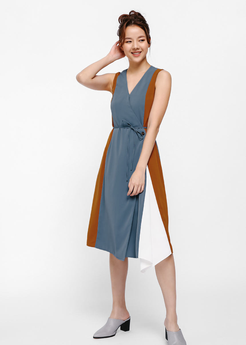 Fortensia Panel Wrap Dress