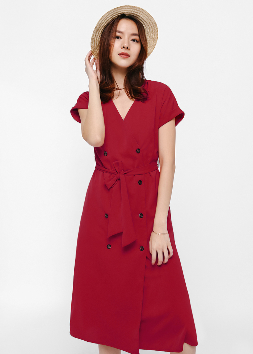 Ottelia Wrap Button-up Dress