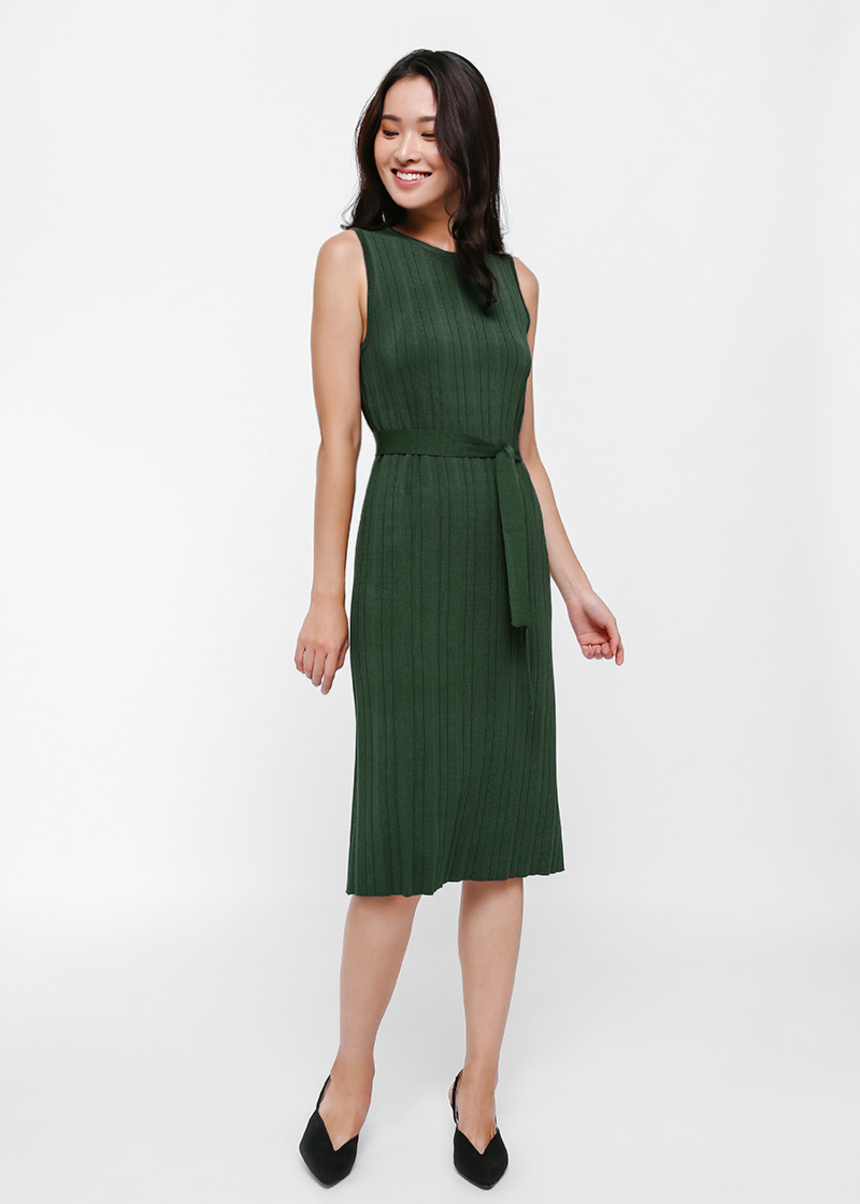 Livnat Tie Sash Knit Dress