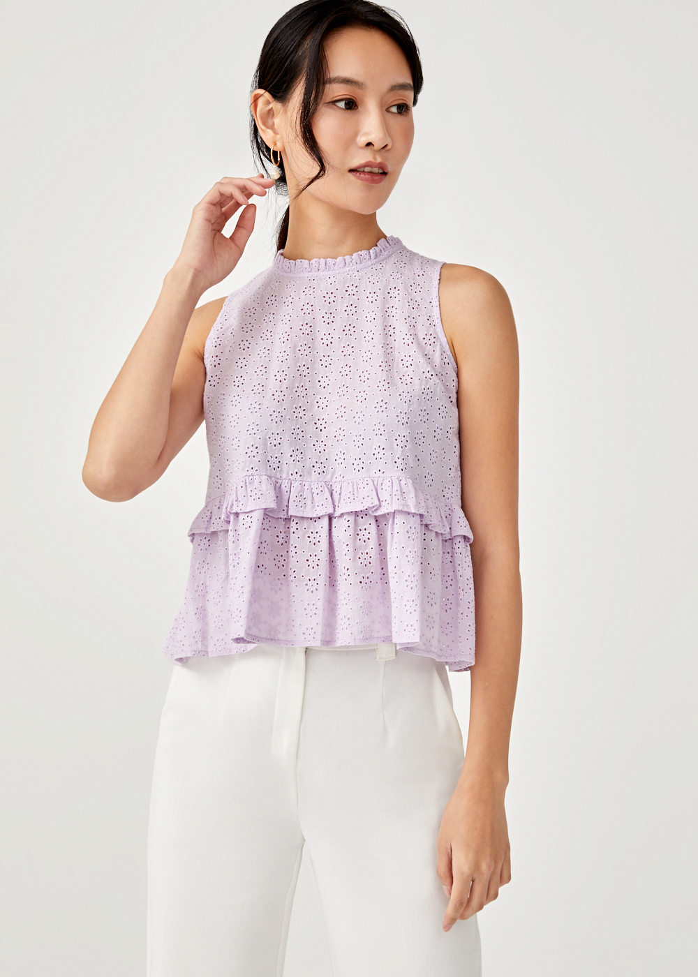Chiara Broderie Anglaise Top