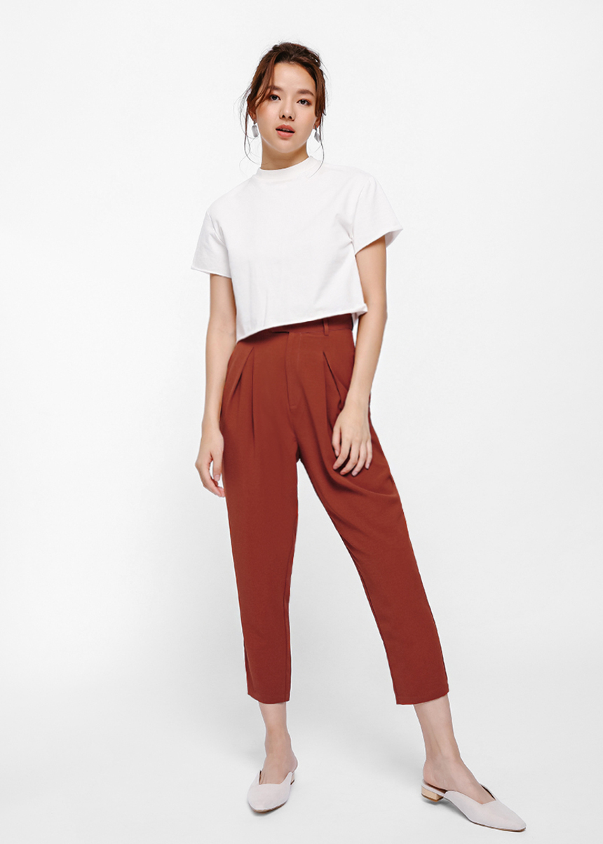 Odin Pleated Crop Pants