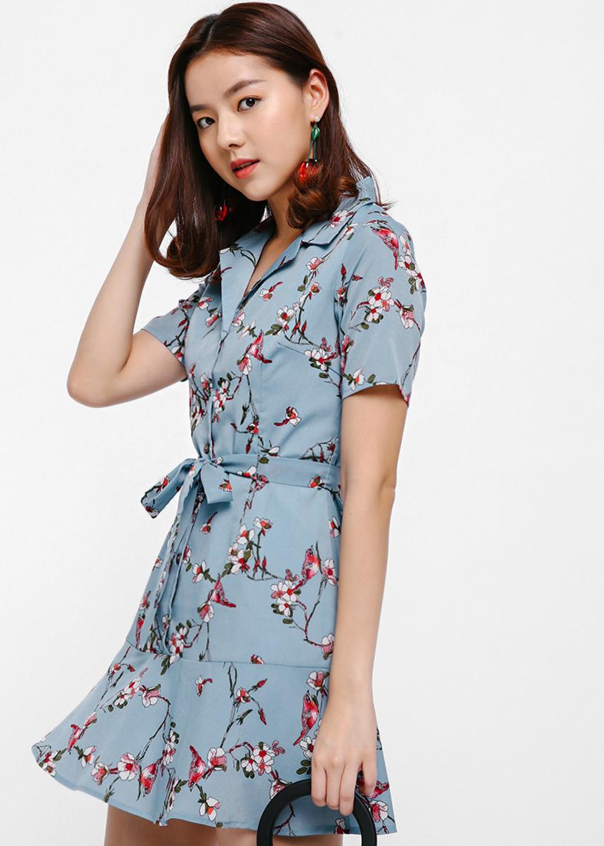 Isavette Floral Shirt Dress