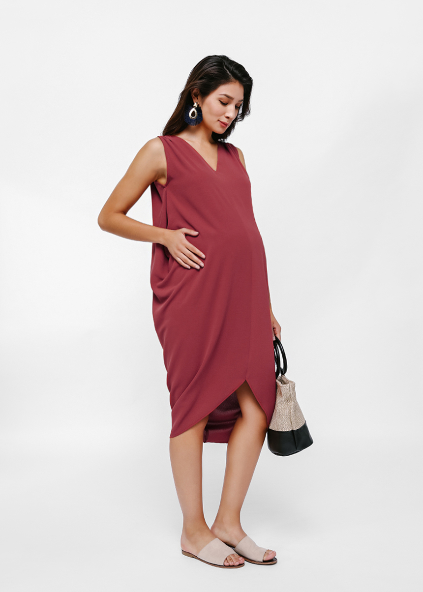 Avery V-Neck Kaftan Dress