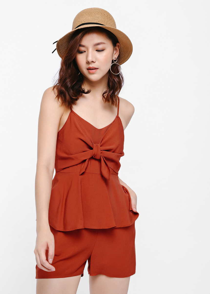 Thisbe Tie-front Romper