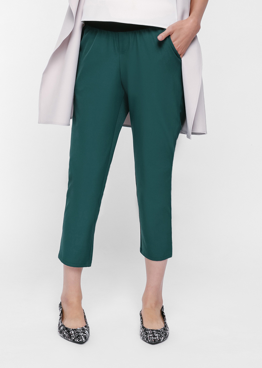 Cruz Elastic Waist Cropped Pants