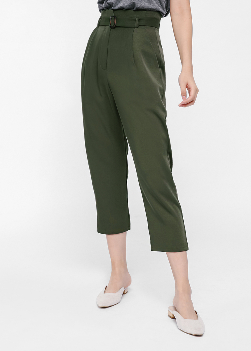 Rosseau Pleat Front High Waist Pants