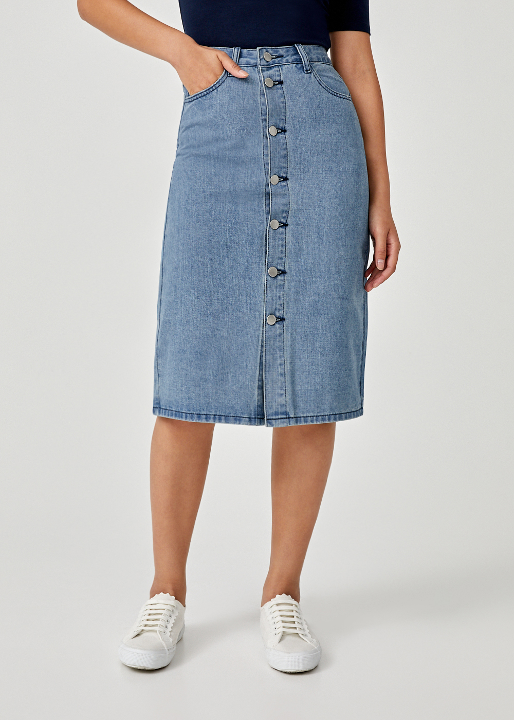Jolie Denim Midi Skirt