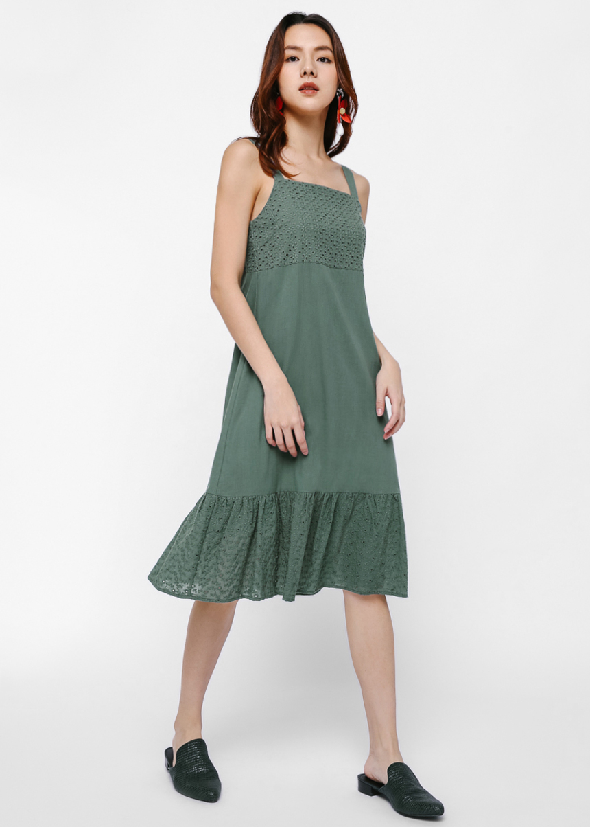 Cezanne Ruffled Hem Dress