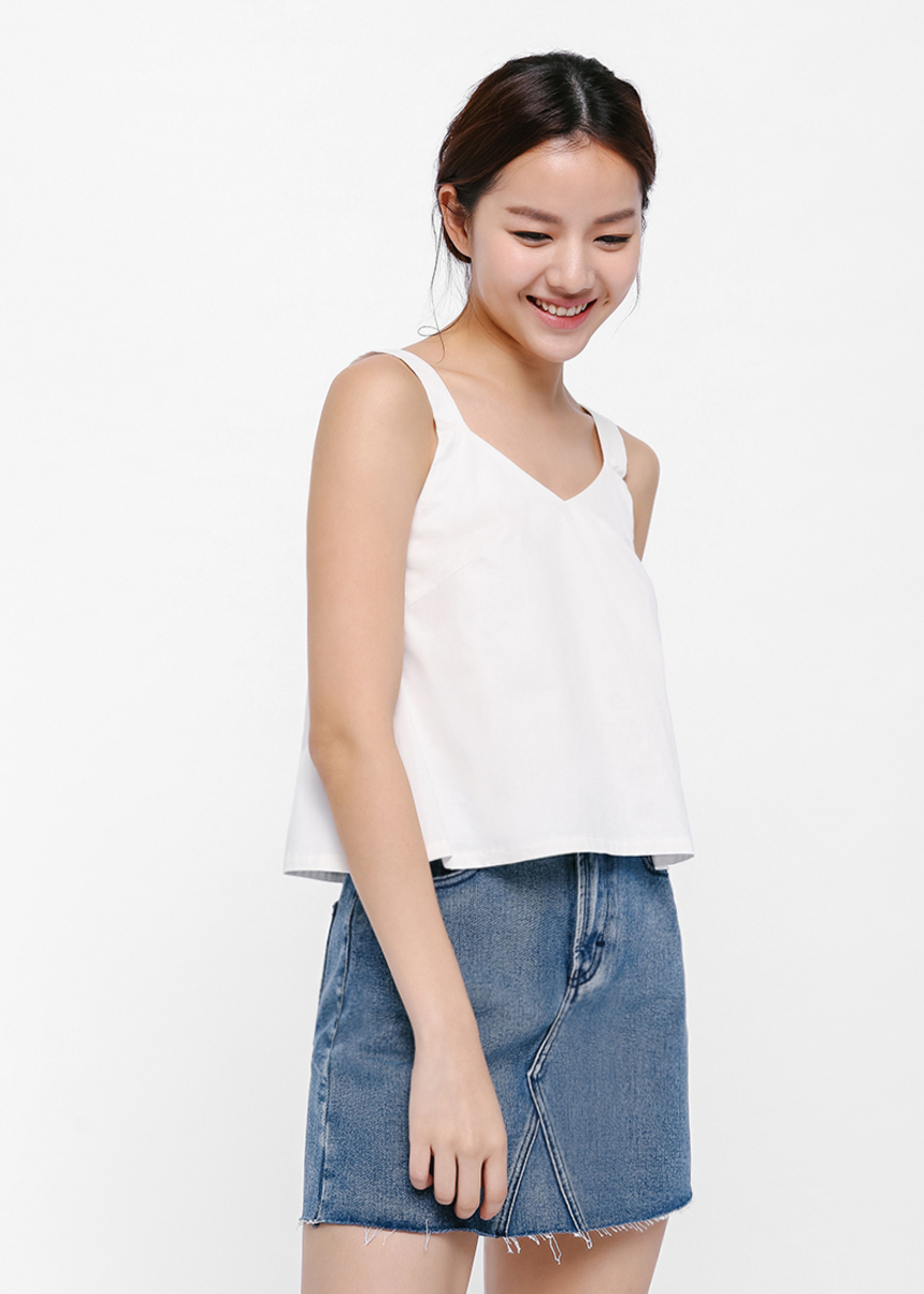 Hazel V-neck Crop Top