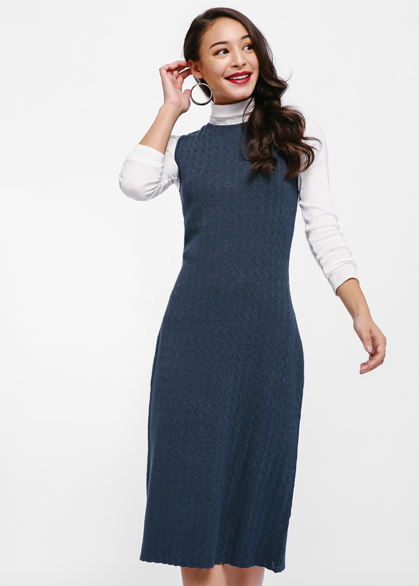 Daphnia Knit Sleeveless Midi Dress