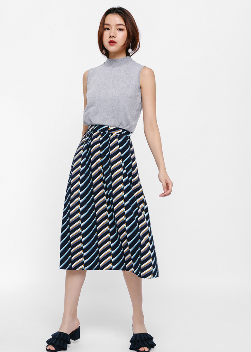 Eral Printed Flare Skirt