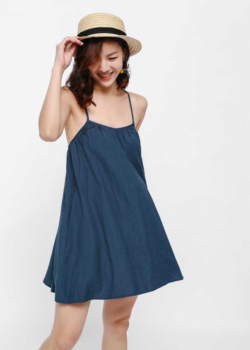 Nielle Tie Back Slip Dress